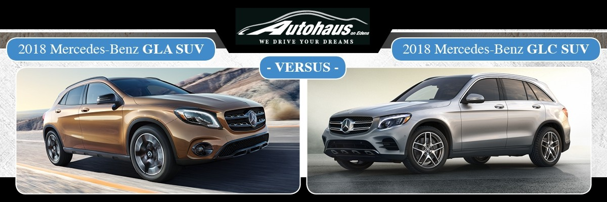 2018 Mercedes-Benz GLA SUV vs GLC SUV