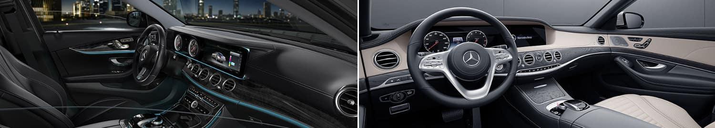 mercedes-benz e-class vs s-class interior comparison