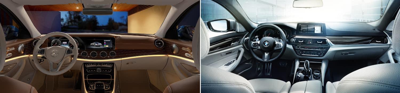 mercedes-benz e-class vs bmw 5-series interior comparison