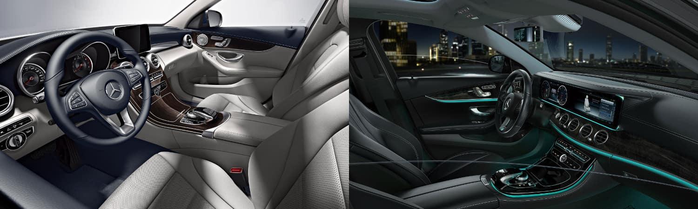 2018 mercedes-benz c-class vs. e-class sedan interior