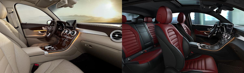 2018 glc suv vs. coupe interior