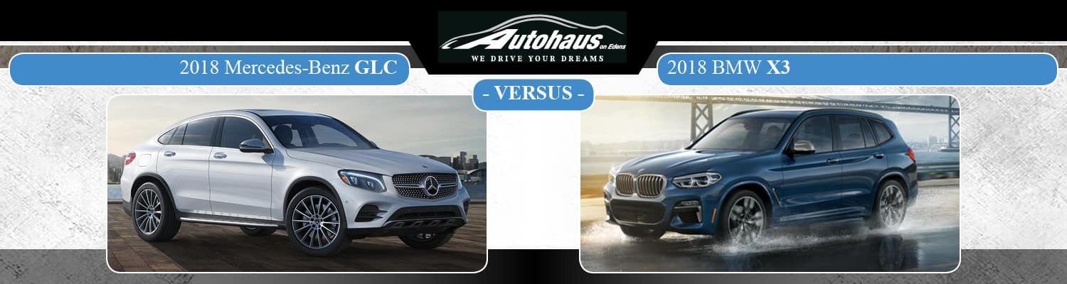 2018 mercedes-benz glc vs. bmw x3