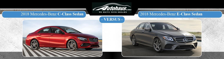 2018 Mercedes-Benz C-Class vs. E-Class sedan