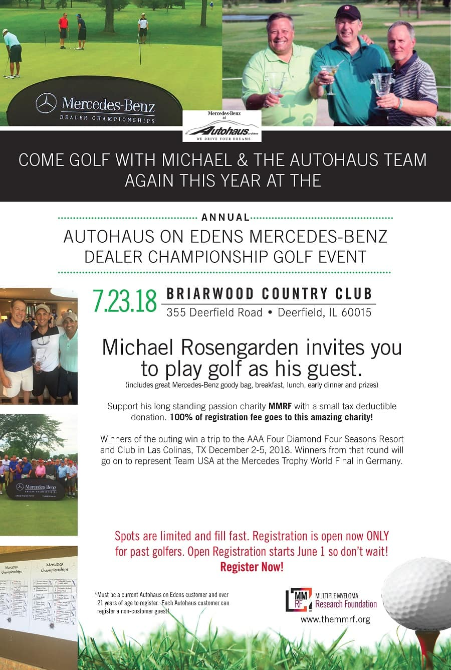 golf outing registration autohaus on edens