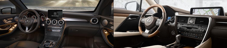 2018 Mercedes-Benz GLC and Lexus RX Interior image