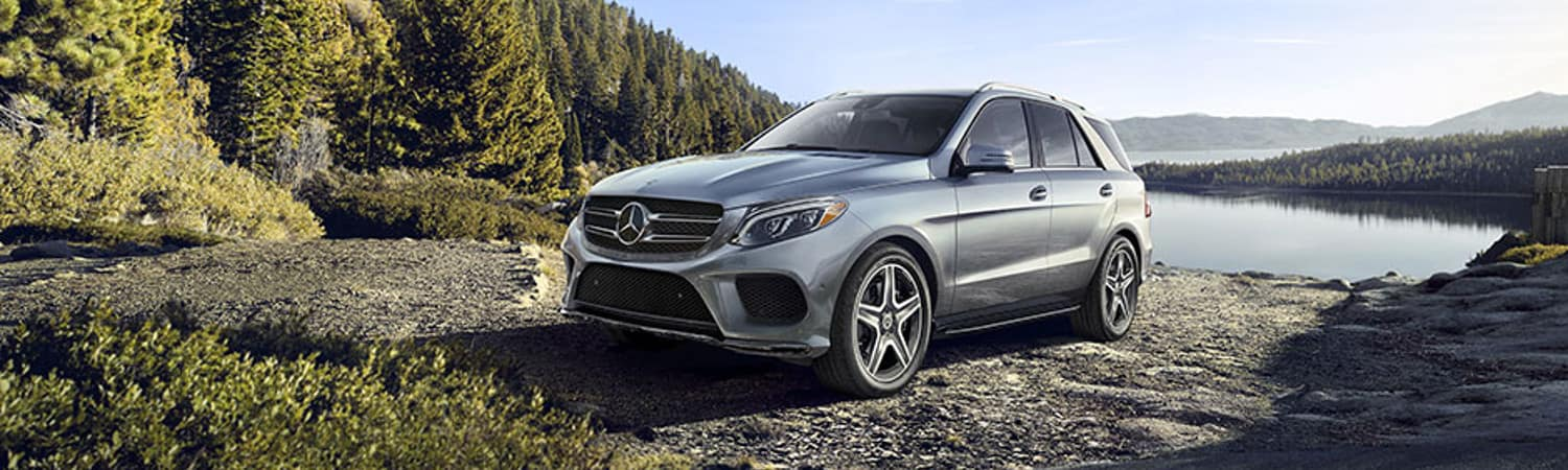 2018 Mercedes-Benz GLE SUV parked near a lake