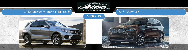 2018 Mercedes-Benz GLE SUV vs. 2018 BMW X5