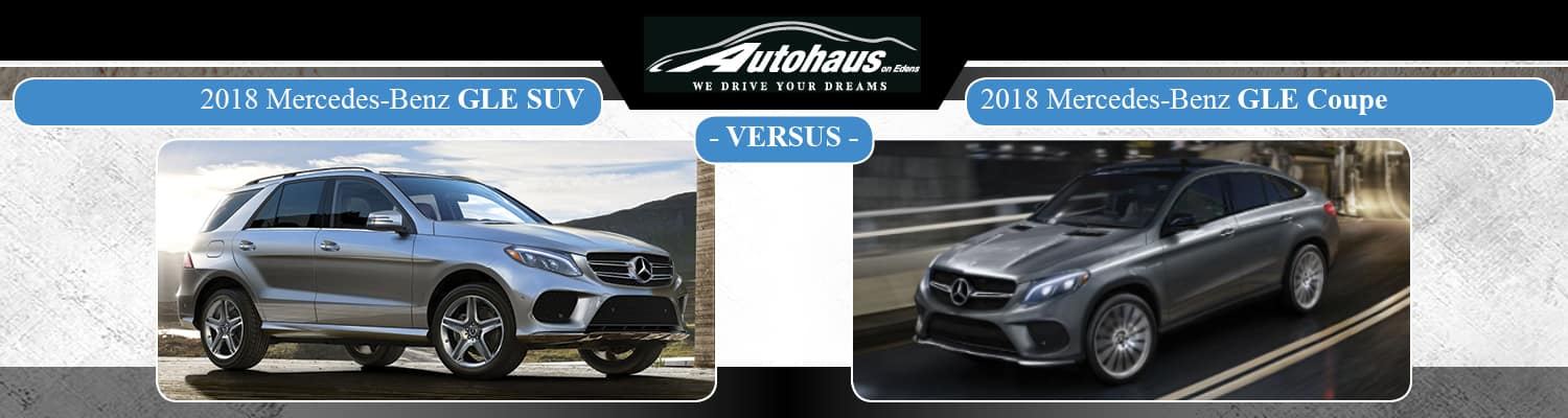 2018 Mercedes-Benz GLE SUV vs. 2018 Mercedes-Benz GLE Coupe
