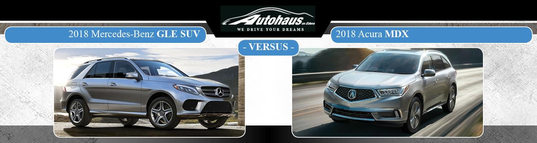 2018 Mercedes-Benz GLE SUV vs. 2018 Acura MDX