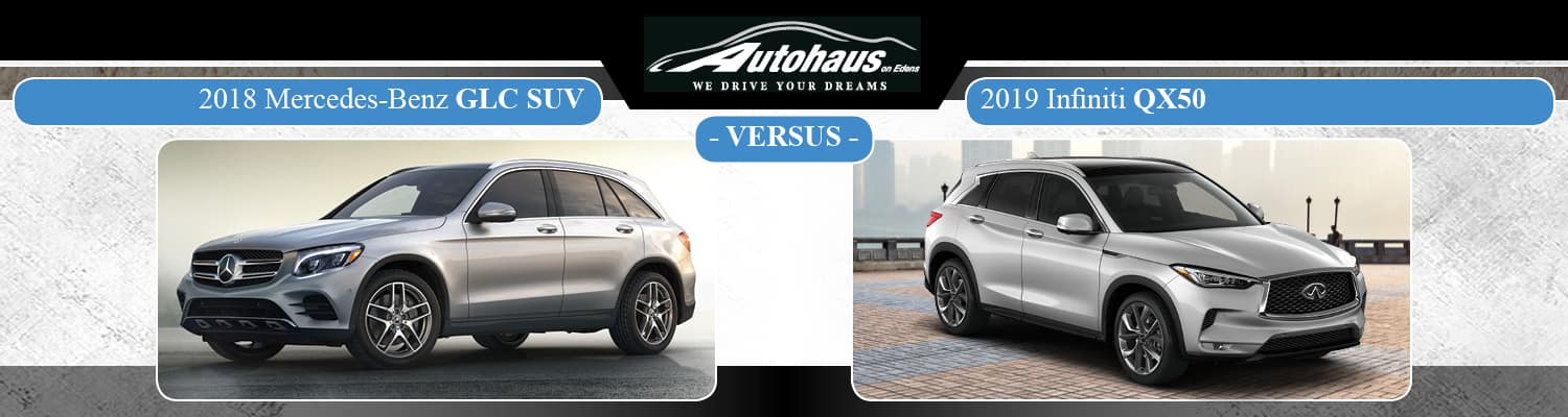 2018 Mercedes-Benz GLC vs. Infiniti QX50