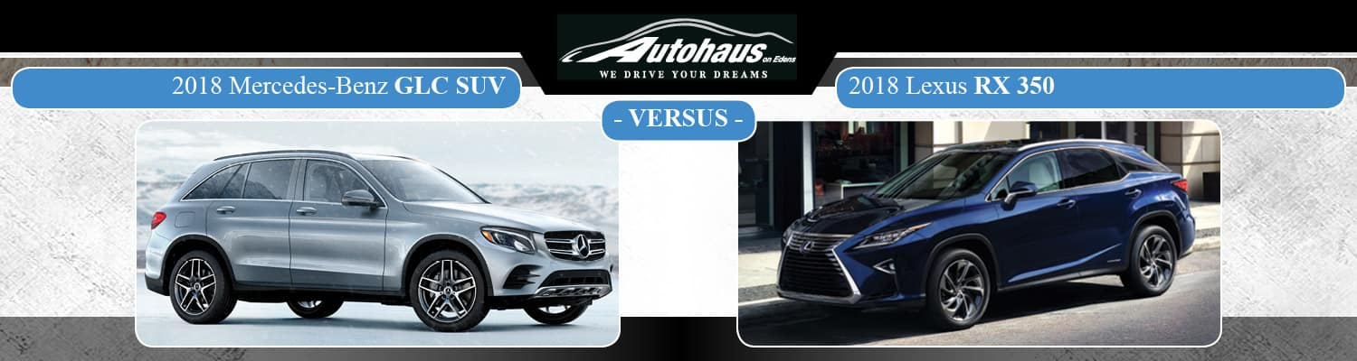 2018 Mercedes-Benz GLC vs. 2018 Lexus RX 350