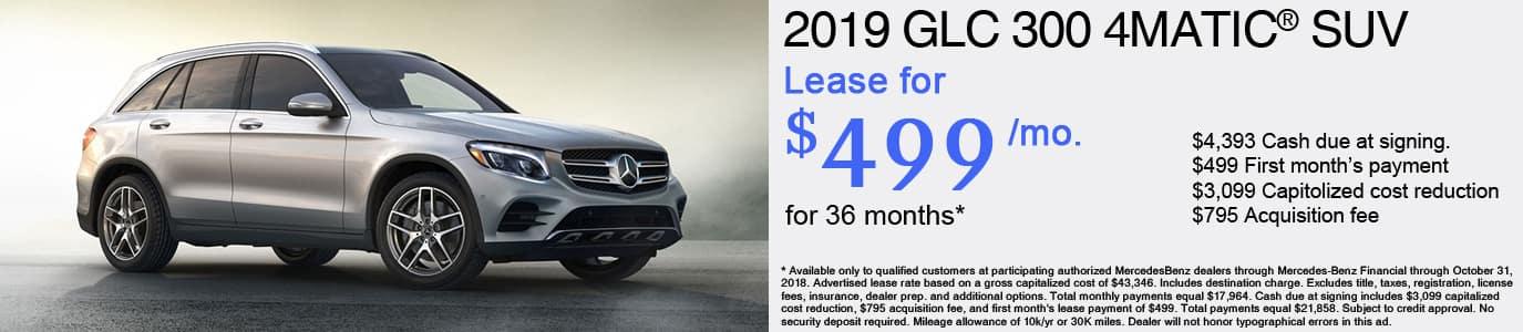 2019 Mercedes-Benz GLC 300 Lease Offer