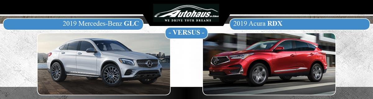 2019 Mercedes-Benz GLC SUV vs. Acura RDX