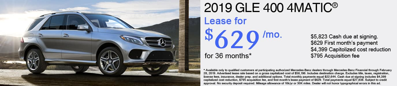 2019 Mercedes-Benz GLE400 Lease Offer