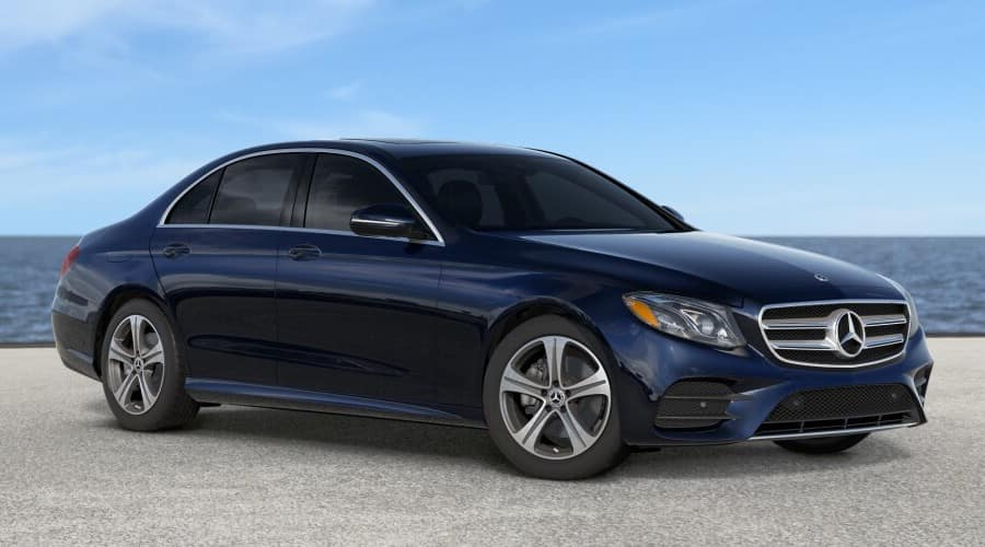 2019 navy blue Mercedes-Benz E300 4MATIC® Sedan