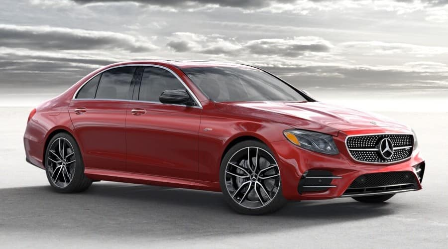 2019 red Mercedes-Benz AMG E53 Sedan