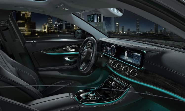 E-Class sedan technology and interior