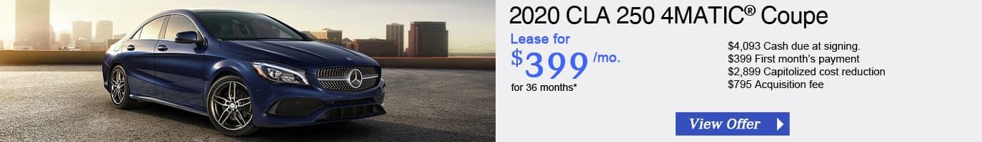 2020 Mercedes-Benz CLA250 Lease Offer