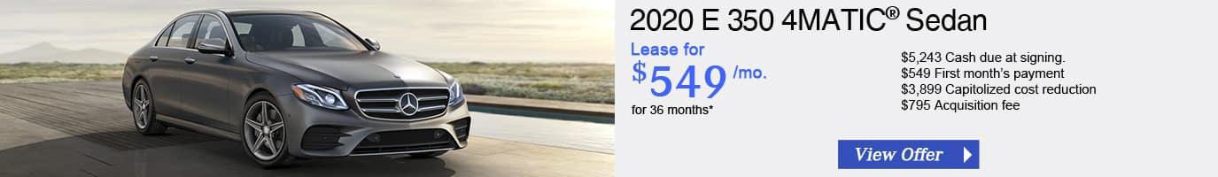2020 Mercedes-Benz E 350 Lease Offer