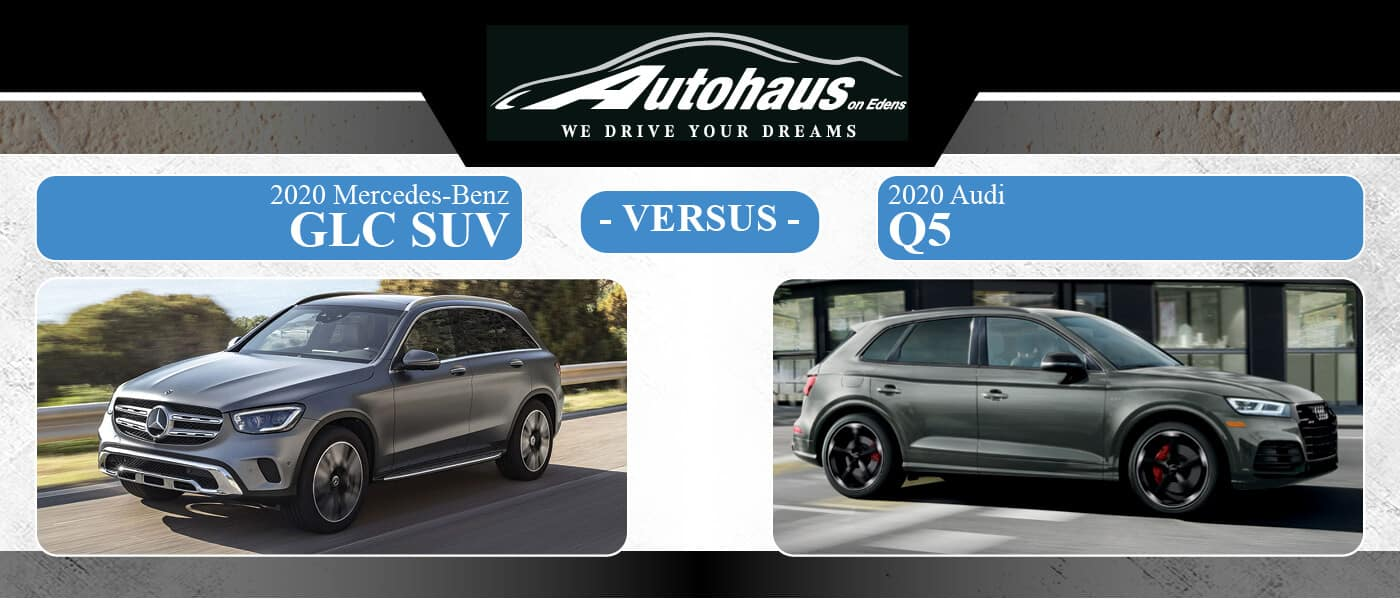 Mercedes Benz Glc Suv Vs Audi Q5 2020 2019 Northbrook Il