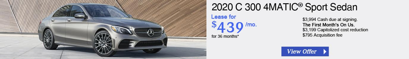 2020 Mercedes-Benz C 300 Lease Offer