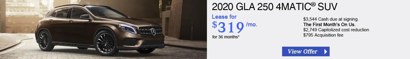 2020 Mercedes-Benz GLA250 Lease Offer