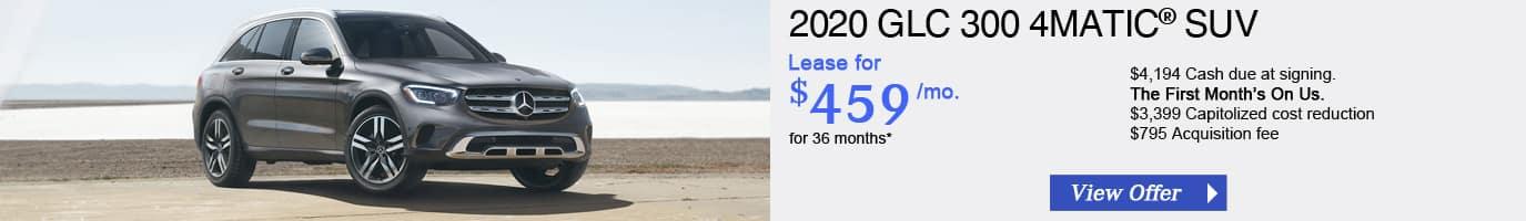 2020 Mercedes-Benz GLC300 Lease Offer