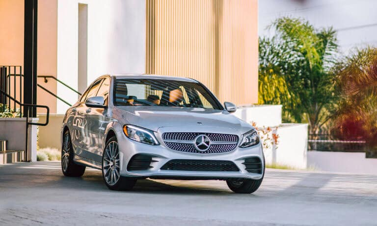 2020 Mercedes-Benz C-Class Sedan Exterior parked in private driveway