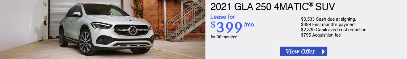 2021 Mercedes-Benz GLA250 Lease Offer