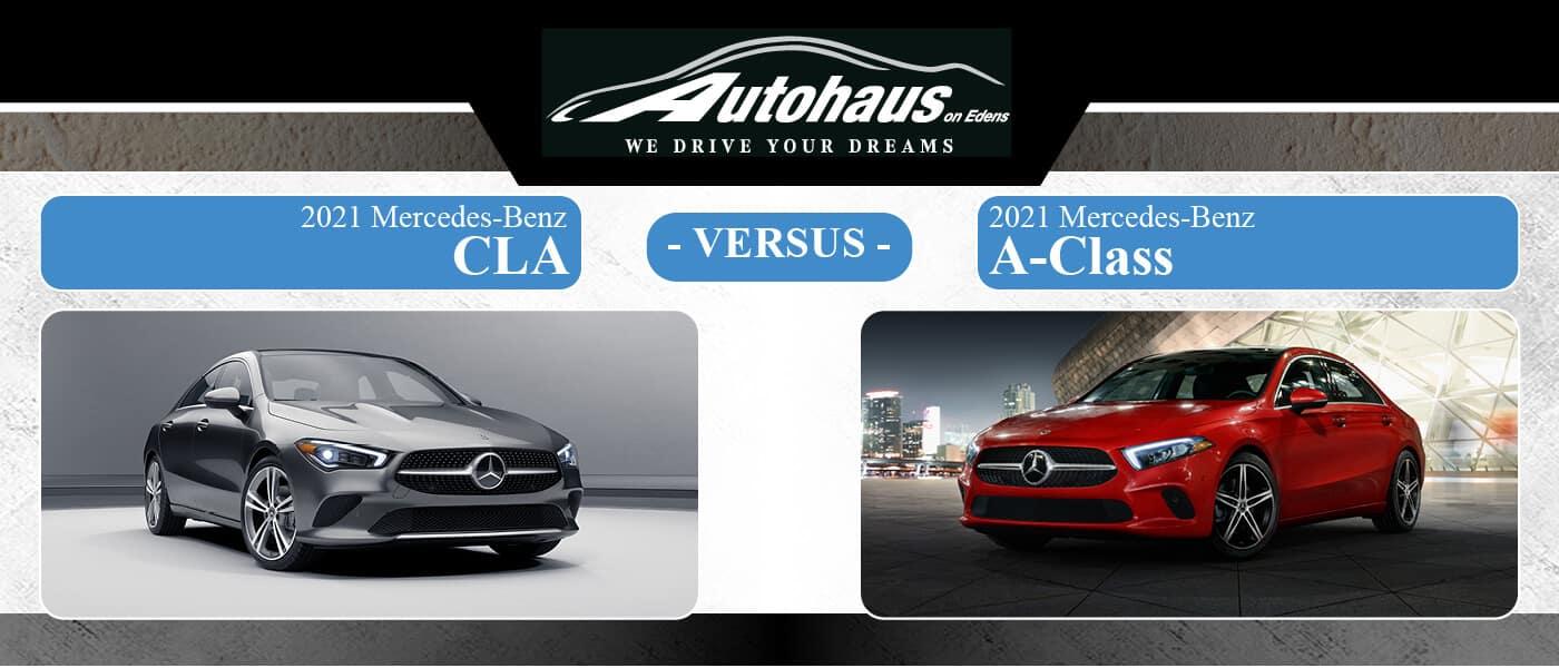 2021 Mercedes-Benz CLA Coupe vs A-Class Sedan