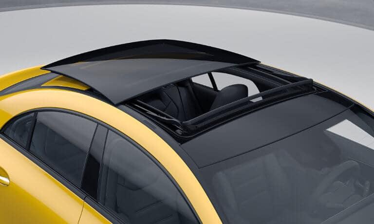 2021 Mercedes-Benz CLA exterior moon roof opening