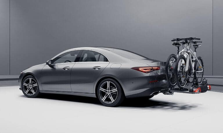 2021 Mercedes-Benz CLA Coupe exterior rear bike rack