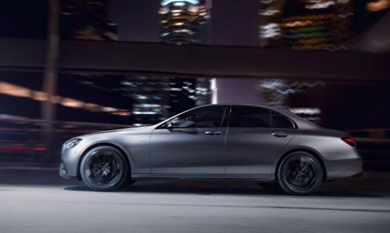 2021 Mercedes-Benz E-Class exterior city highway at night