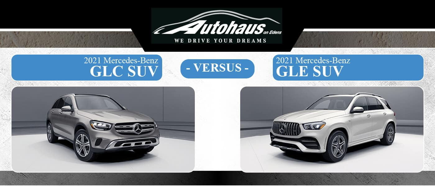 2021 Mercedes-Benz GLC SUV vs. GLE SUV at Autohaus on Edens in Northbrook, IL
