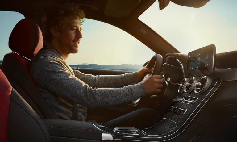 2021 Mercedes-Benz GLC SUV interior with driver