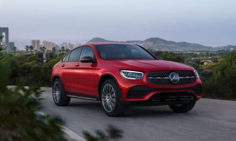 2021 Mercedes-Benz GLC Coupe exterior scenic road