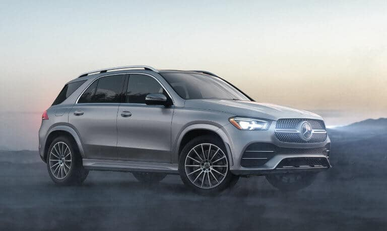 2021 Mercedes-Benz GLE SUV exterior in fog