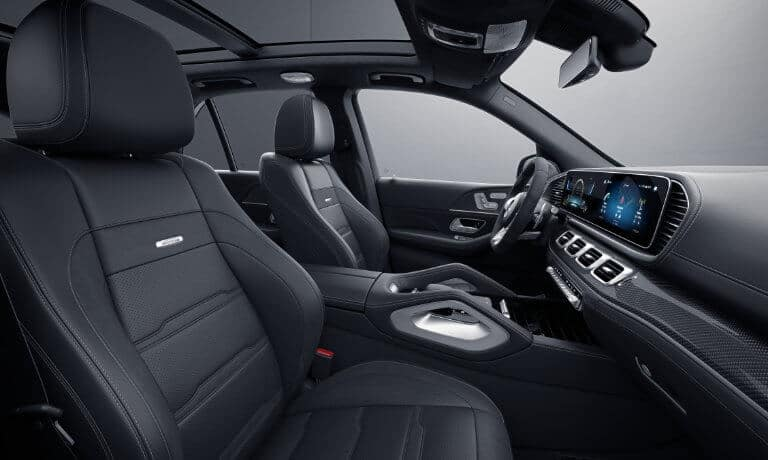 2021 Mercedes-Benz GLE SUV interior front side angle