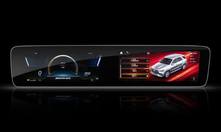 2021 Mercedes-Benz GLE SUV interior infotainment dash screen