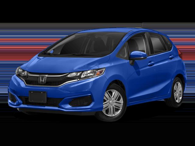 Blue Honda Fit