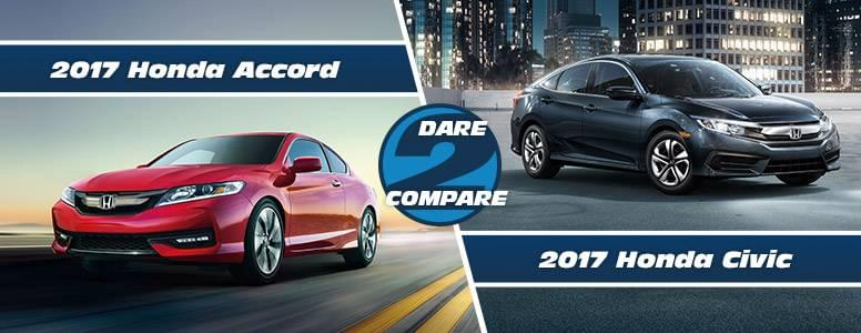 2017 honda accord vs 2017 honda civic comparisons for Honda accord vs honda civic
