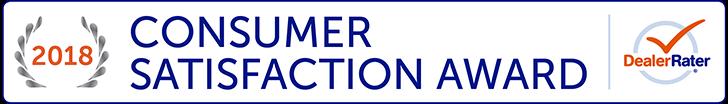 2018 DealerRater Consumer Satisfaction Award