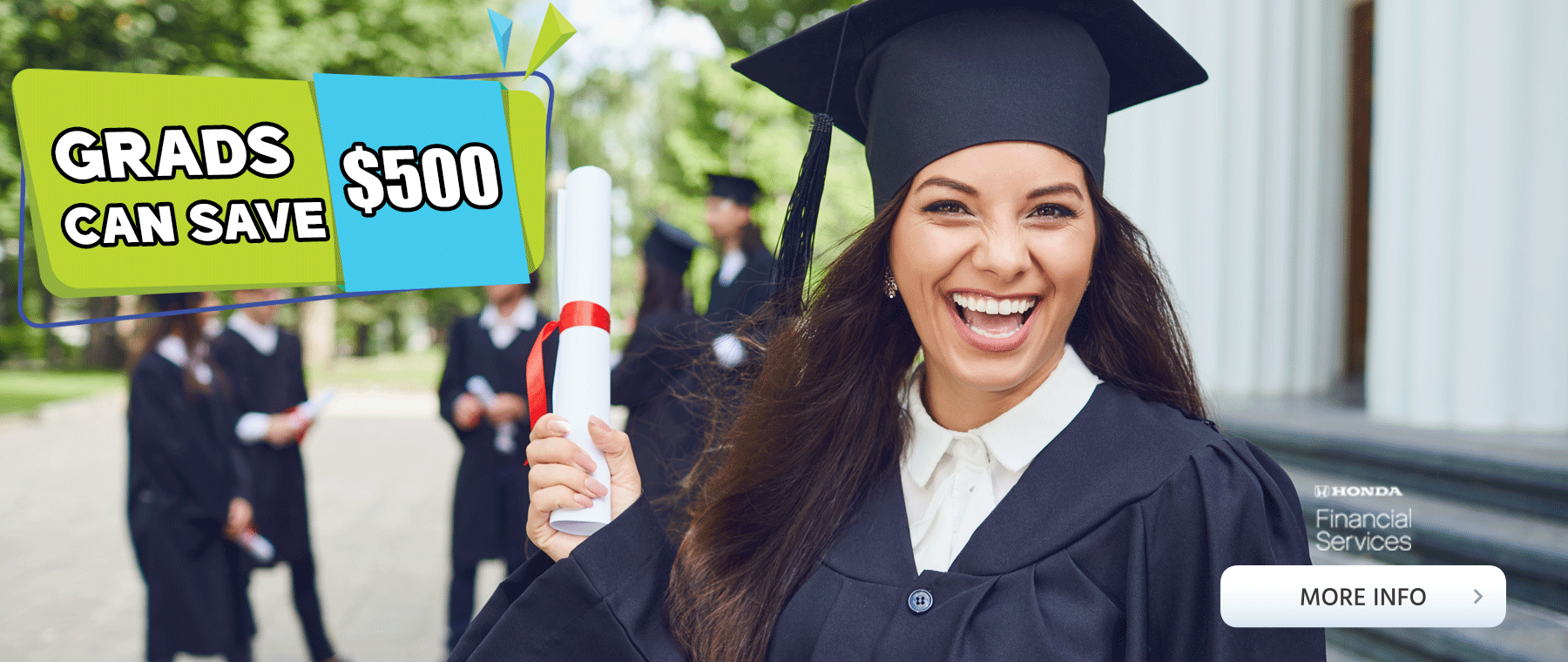 Grad program Save 500 Dollars