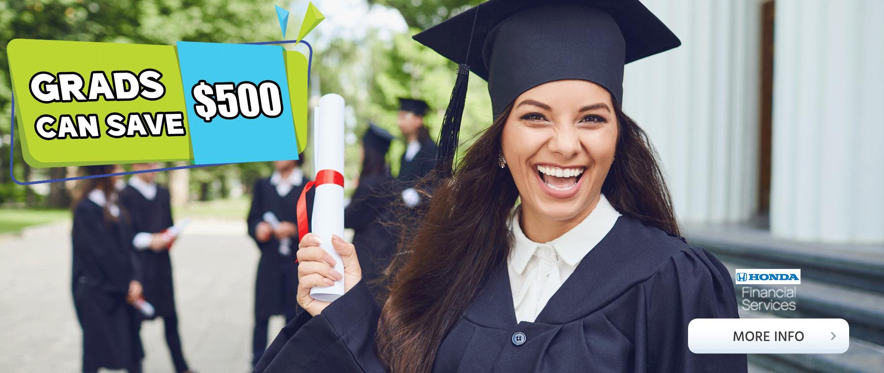 Honda College Grad Program save 500