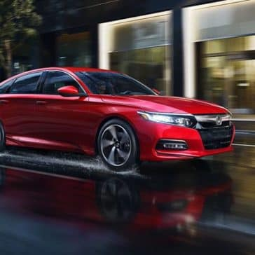 2018 Honda Accord driving in the rain
