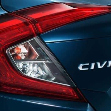 2018 Honda Civic tail light detail
