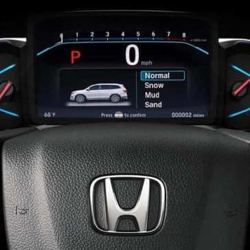 2019 Honda Pilot driver interface
