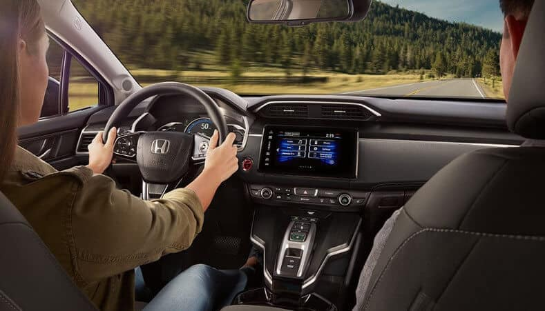 2018 Honda Clarity dashboard with driver