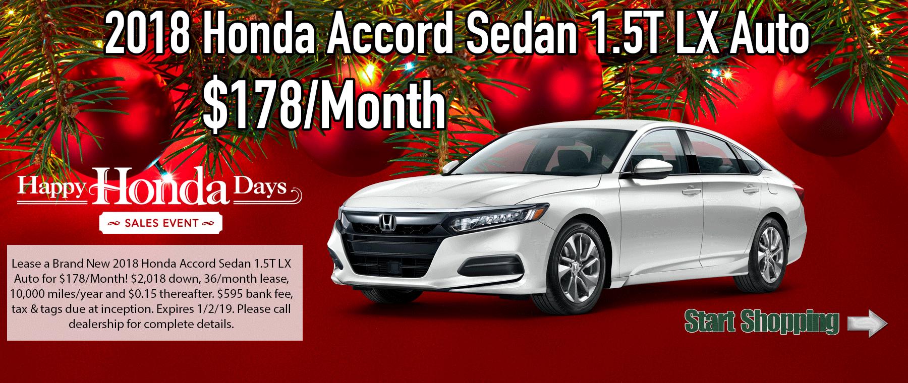 Honda Accord 1.5T LX Auto
