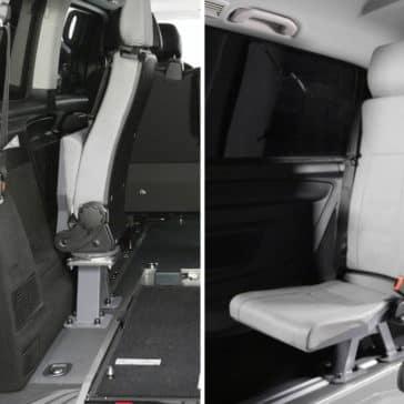 Tip-Fold Seat.